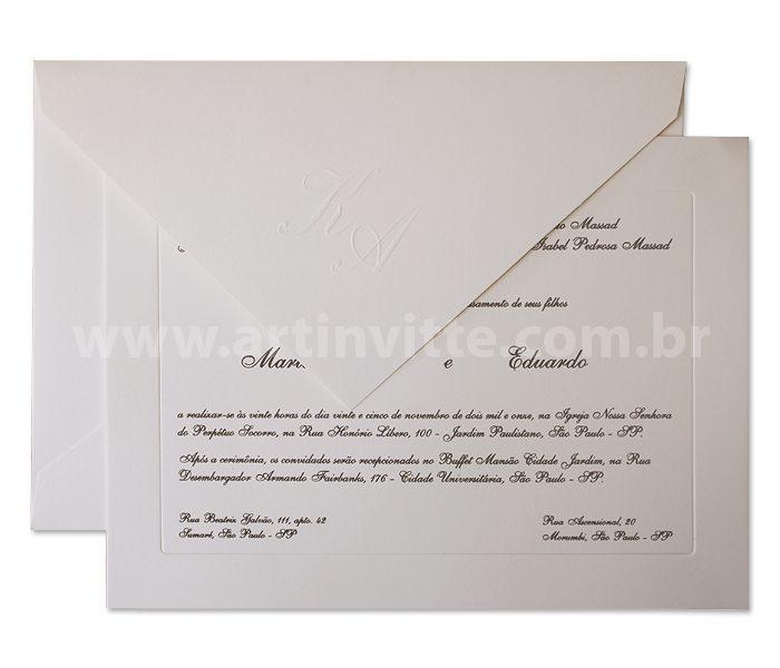 Convite de casamento clássico Veneza VZ 003