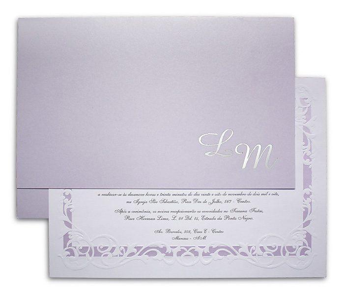Convite de Casamento Alexandria AL 011