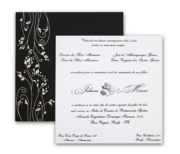 Convite de Casamento Leaves LV 002