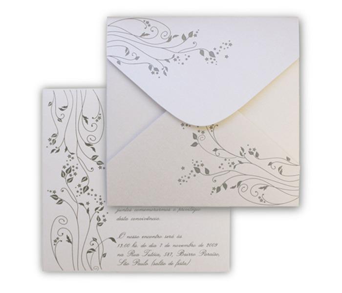 Convite de Casamento Leaves LV 003