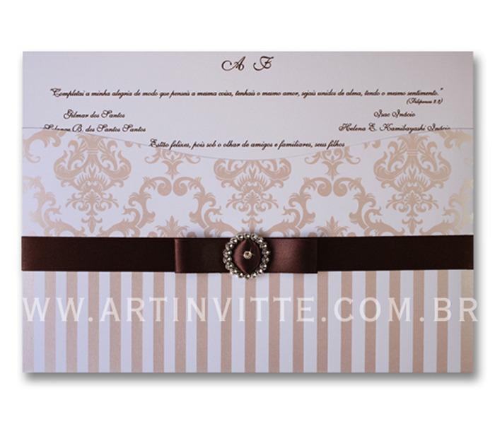 Convite de Casamento Madri MD 014