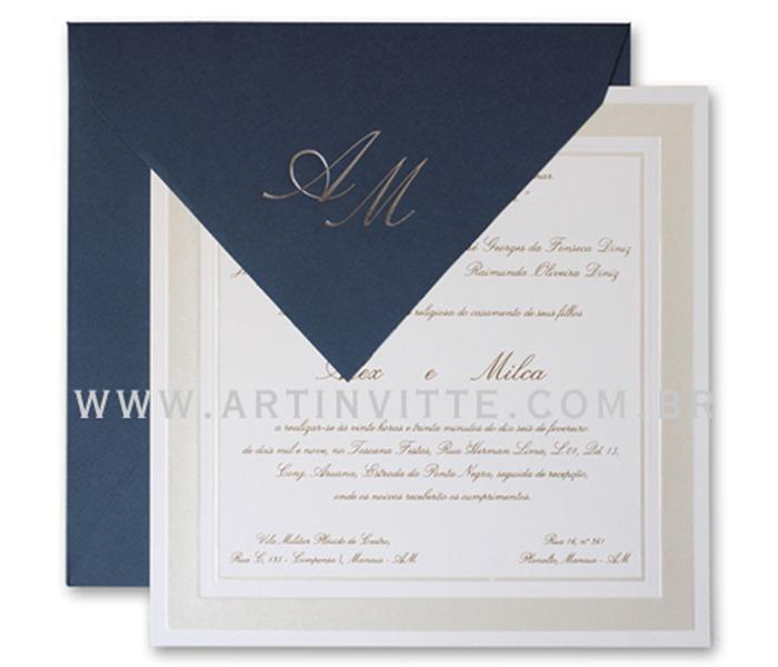 Convite de Casamento Milão ML 002