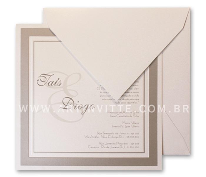 Convite de Casamento Milão ML 004