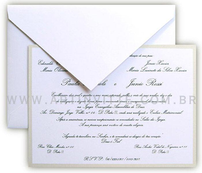 Convite de Casamento Orlando OR 001