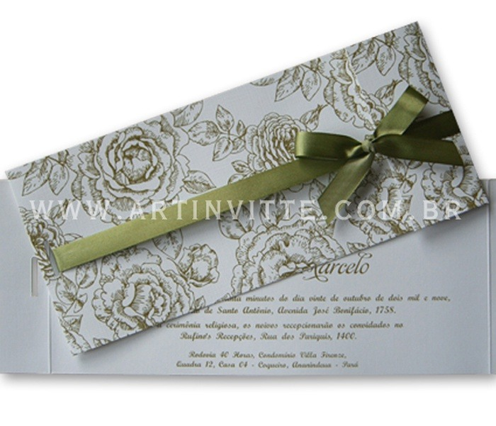 Convite de Casamento Paris PR 005