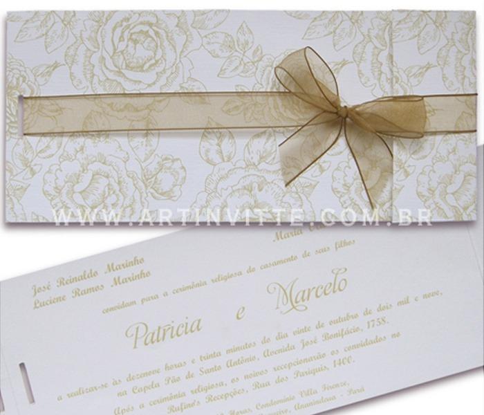 Convite de Casamento Paris PR 007