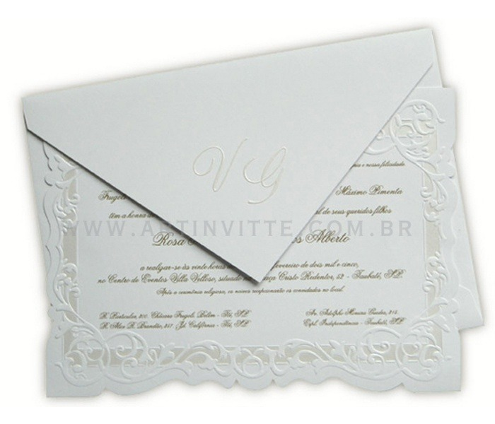 Convite de Casamento Sevilha SV 001