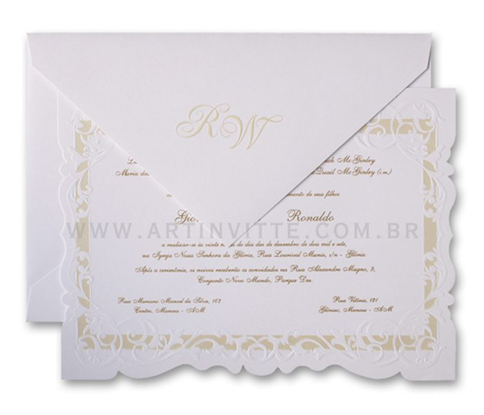 Convite de Casamento Sevilha SV 004