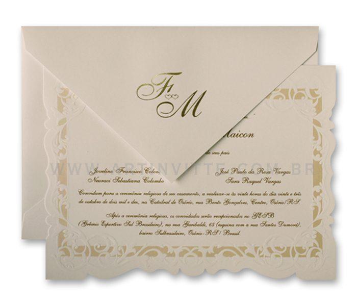 Convite de Casamento Sevilha SV 006