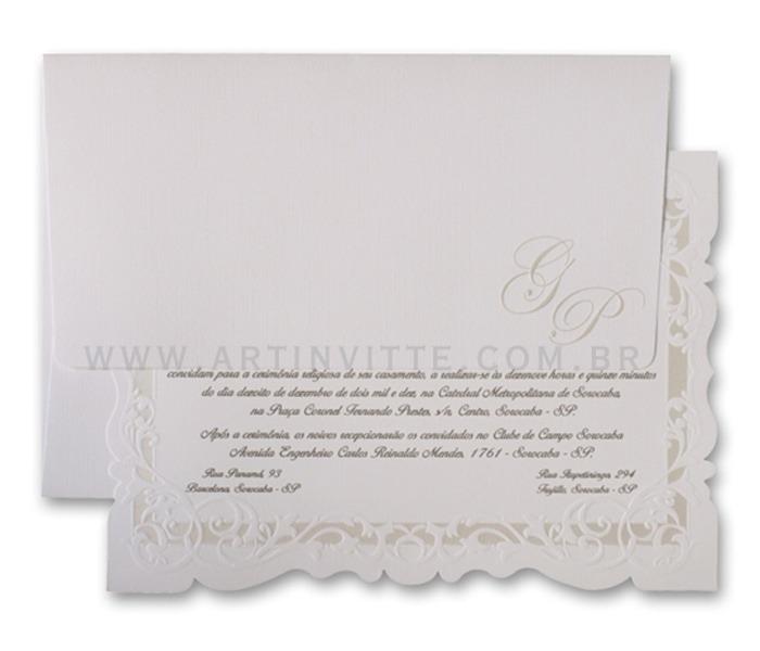 Convite de casamento romântico Sevilha SV 007