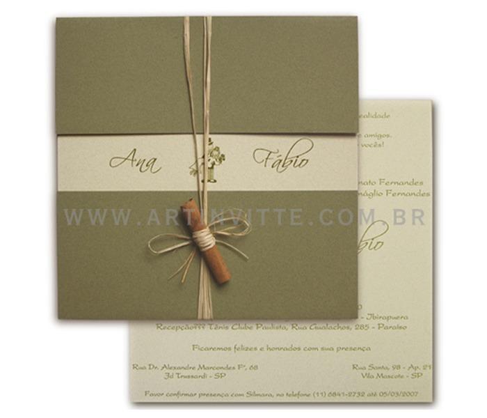 Convite de Casamento Triplo TRP 004