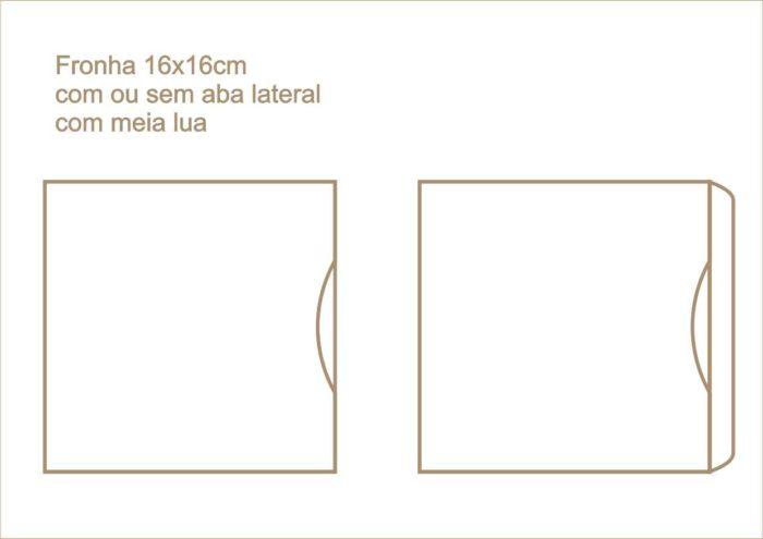 Envelope fronha com ou sem aba lateral com meia lua 010
