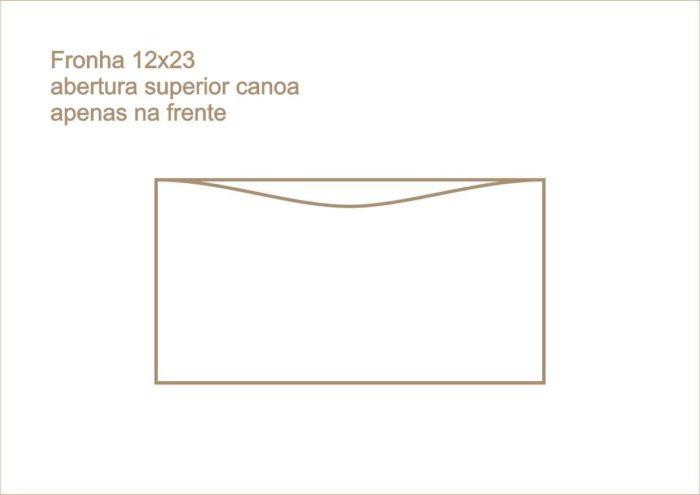 Envelope fronha com abertura superior canoa apenas na frente 011