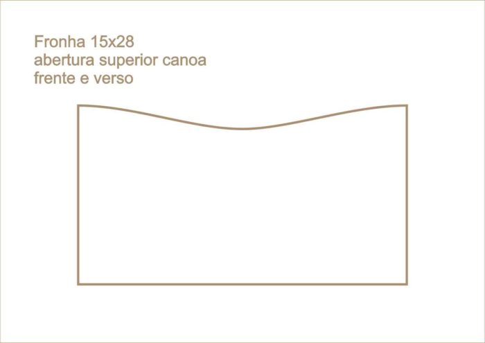 Envelope fronha abertura superior canoa frente e verso 012
