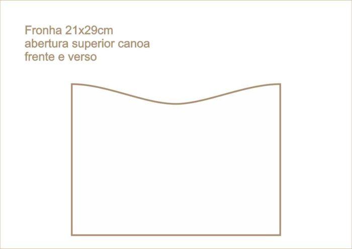Envelope fronha abertura superior canoa frente verso 013