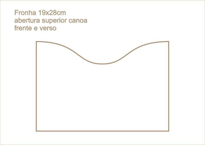 Envelope fronha abertura superior canoa frente e verso 014