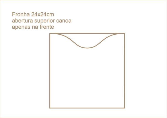 Envelope fronha abertura superior canoa apenas na frente 015