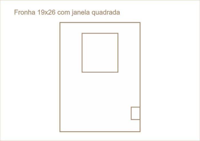 Envelope fronha com janela quadrada 019