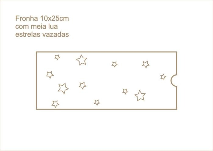 Envelope fronha com meia lua estrelas vazadas 020