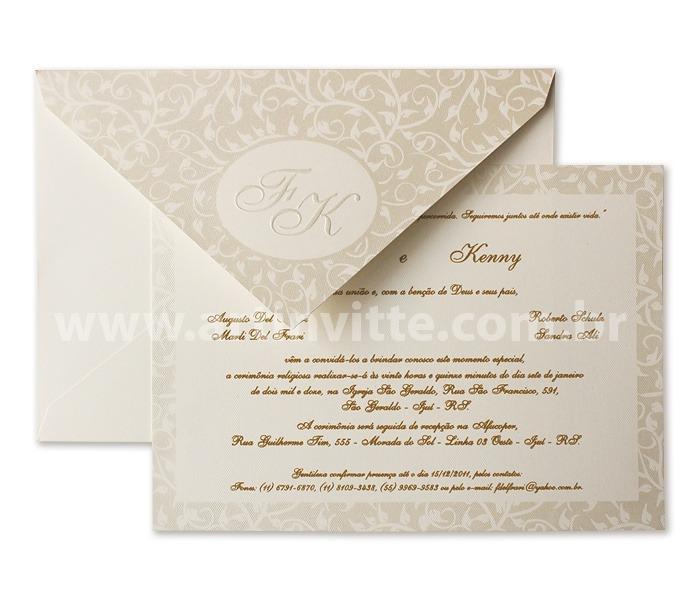 Convite de Casamento Veneza VZ 009 convite em pérola