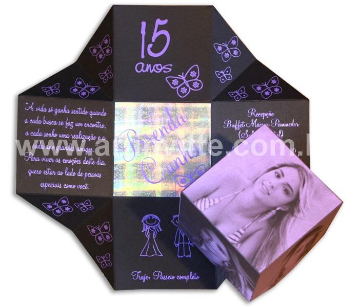 Convite de 15 anos Cubo - DBC 004