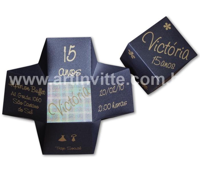 Convite de 15 anos Cubo - DBC 007