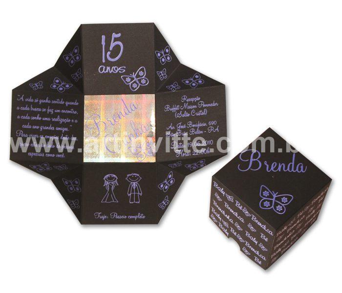 Convite de 15 anos Cubo - DBC 008