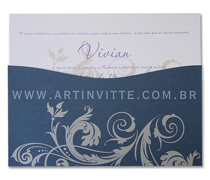 Convite de casamento Madri DBM 004