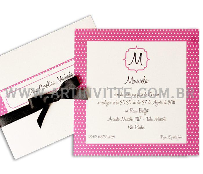 Convite de casamento Luva DBL 001