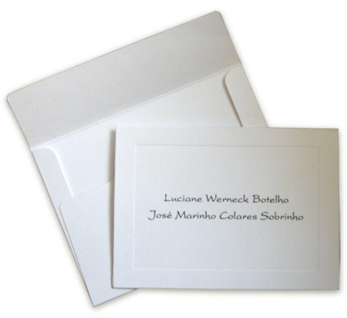 Cartão de Agradecimento 8x11cm