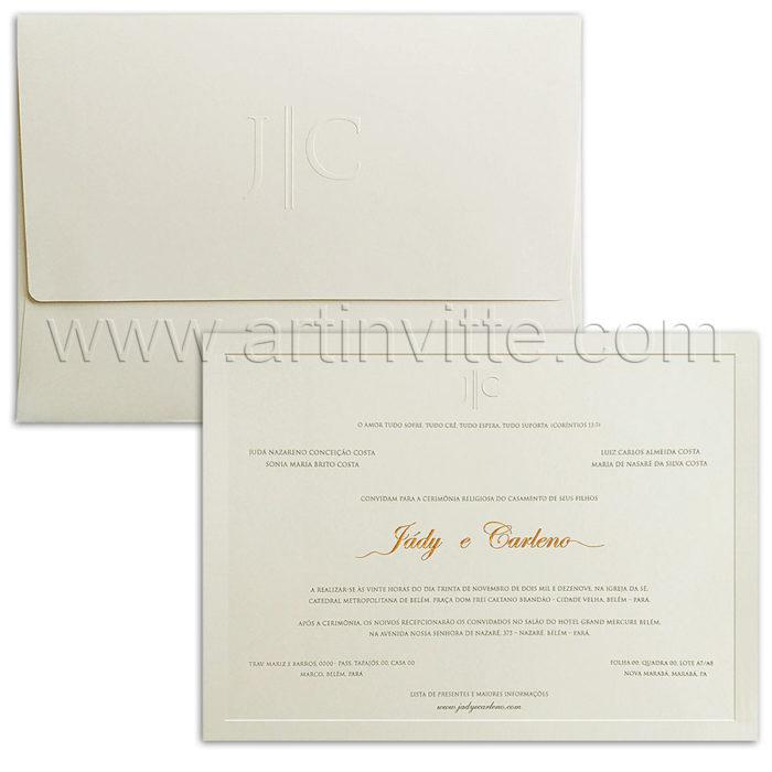 Convites de casamento tradicionais - Veneza VZ 220