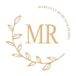 Brasão para convite de casamento modelo 123 - Art Invitte Convites