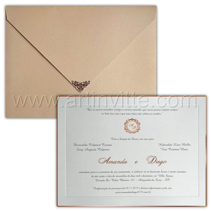 Convite de casamento de luxo - Veneza VZ 032