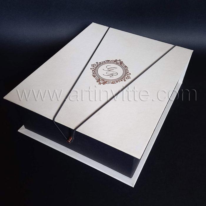 Caixas para padrinhos 016, gravata, taças, doces
