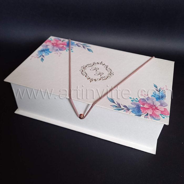 Caixas para padrinhos 018, gravata, taças, doces