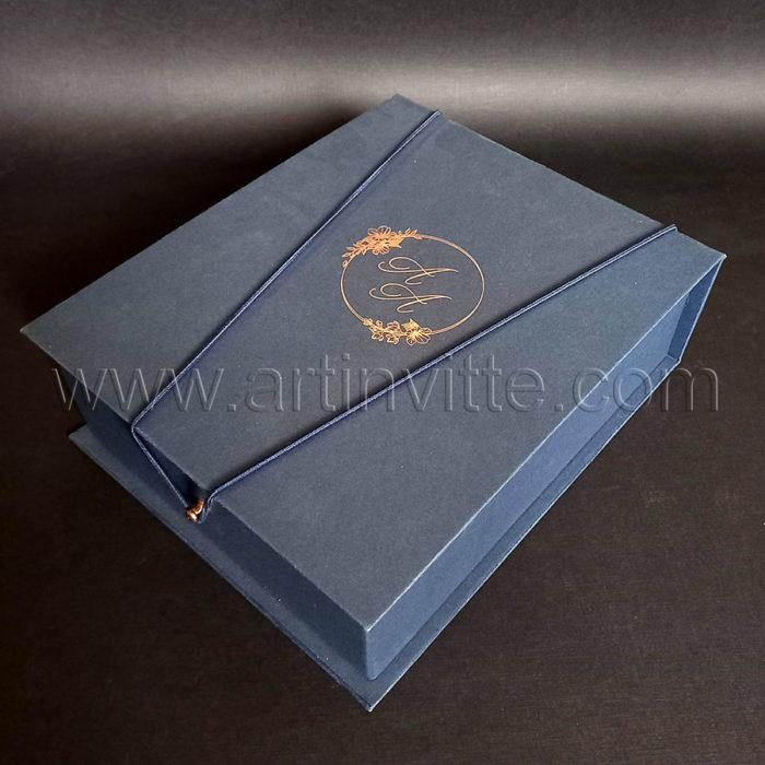 Caixas para padrinhos 019, gravata, taças, doces