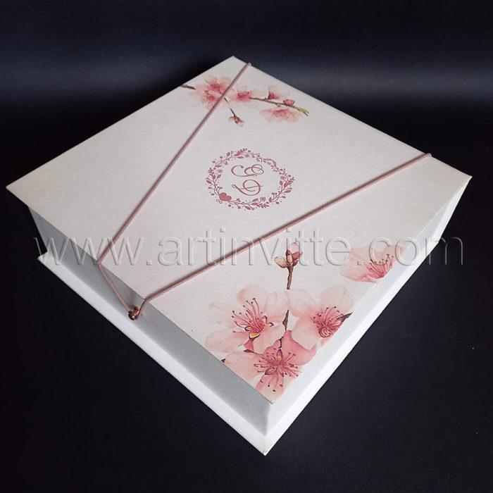 Caixas para padrinhos 020, gravata, taças, doces