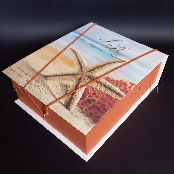 Caixas para padrinhos 021, gravata, taças, doces