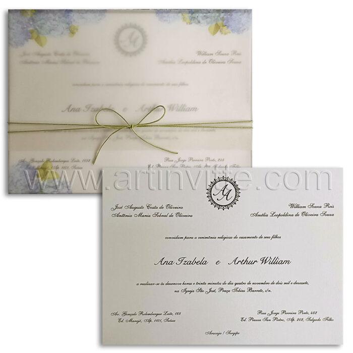 Convite de Casamento Modernos 1