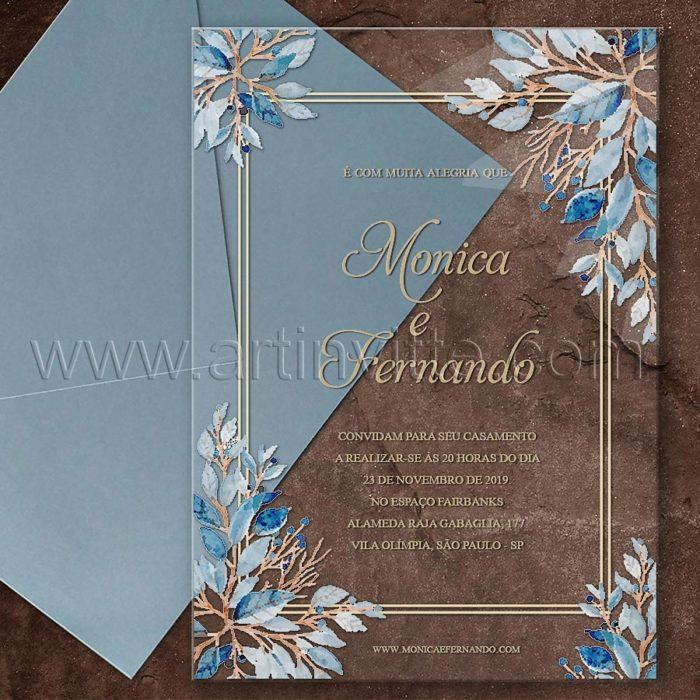 Convite em acrílico com impressão colorida CAR 014