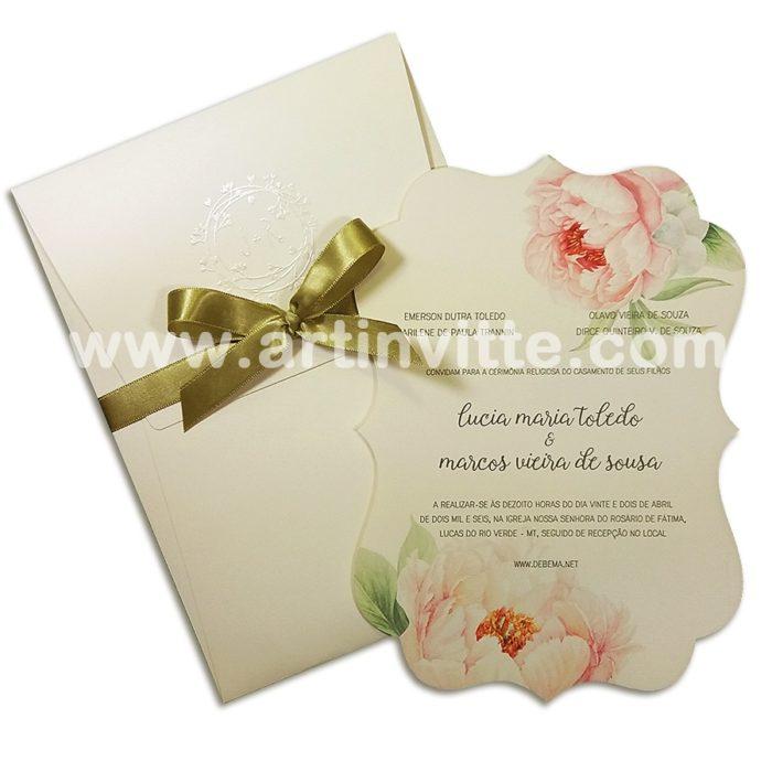 Convite de Casamento Art Invitte Convites CCl 005