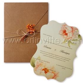 Convite de Casamento Rústico CCL 005 - Art Invitte Convites