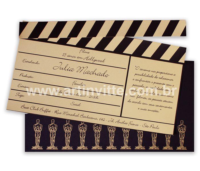 Convite de casamento Claquete CLT 003