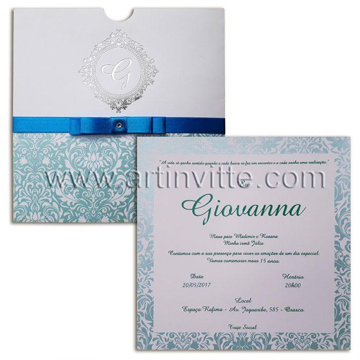 Convite de casamento Fronha Quadrado DFR 013