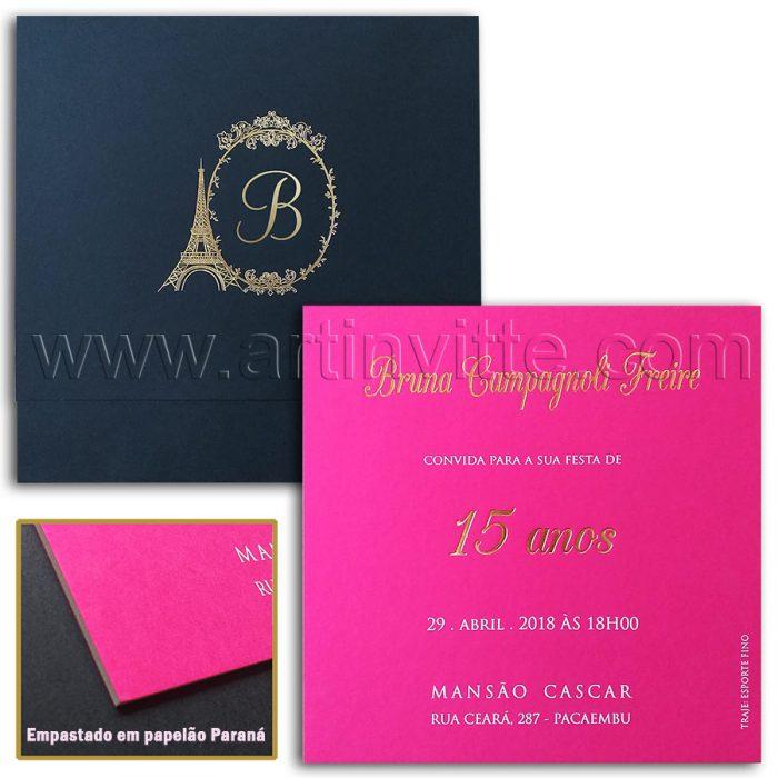 Convite de casamento Debutantes DEB 048
