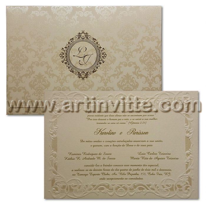 Convite de Casamento - Art Invitte Convites AL-021