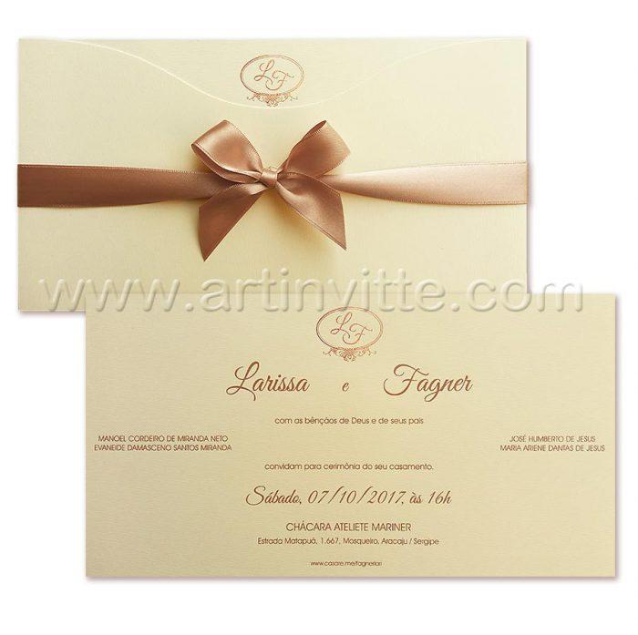 Convite de casamento modelo Madri MD 041