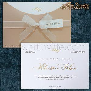 Modelos de convites de casamento 7