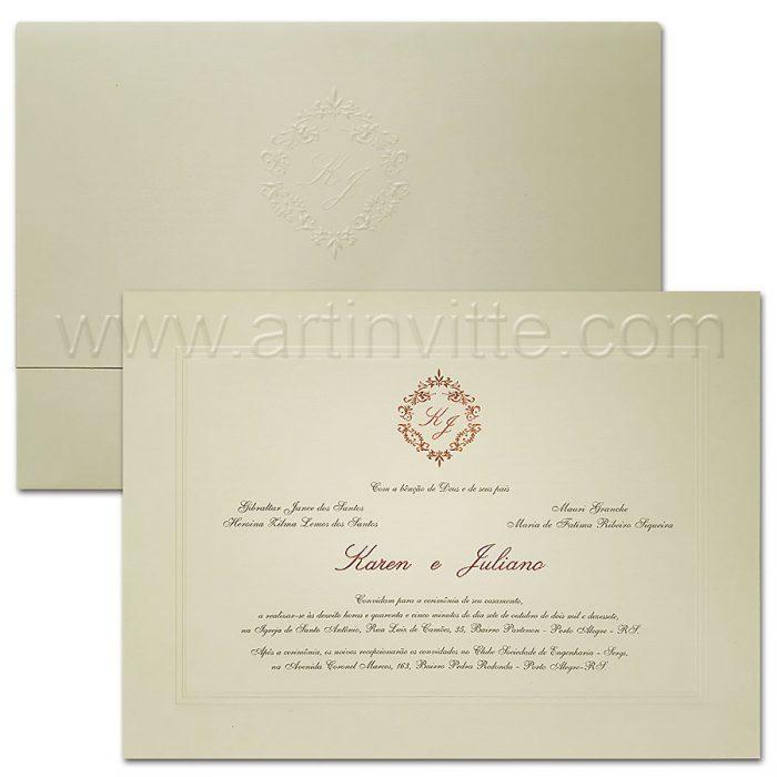 Convite de casamento modelo Amsterdam AM 014