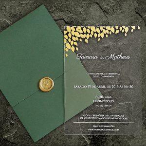 Convite de casamento Acrílico CAR 005 - Art Invitte Convites